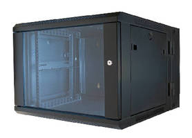 Wall Rack Enclosure accommodates 19 in. rack equipment.
