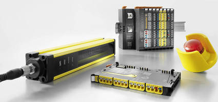 Distributed I/O Modules eliminate need for safety controller.