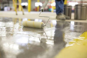 Epoxy Primer inhibits moisture vapor emissions on concrete floors.