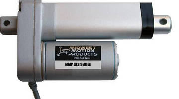 Linear Actuator utilizes all-steel drive pinion.