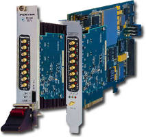 A/D and D/A Modules feature 3U VPX and PCIe form factors.