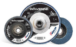 Flap Discs grind and blend carbon and stainless steel.