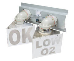Dual Color LED Warning Light operates in hazardous locations.