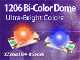 Bi-Color SMD LED comes in ultra-bright colors.