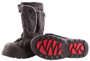 Non-Studded Overshoe helps navigate winter landscape.
