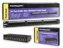 Patch Panels keep cables in easily identifiable order.