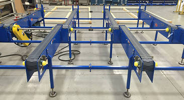 Multiple Strand Auto Pick Conveyor supports heavy product loads.