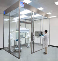 Modular Cleanroom features glass and steel construction.