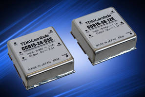 Wide Input 15 W DC/DC Converters have 6-sided shielding.
