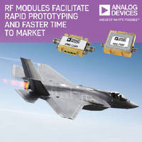 RF and Microwave Modules facilitate rapid prototyping.