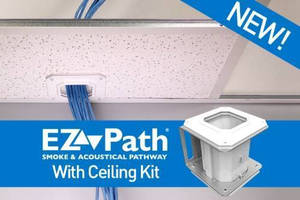 NEZ33CK EZ-Path Smoke and Acoustical Pathway features a built in smoke sealing system.