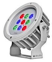 RGB LED Luminaire provides spot and accent lighting.