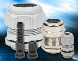Metric/PG/NPT Cable Glands deliver protection to IP68.
