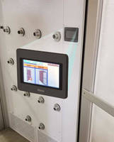 Clean Air Products Air Showers with New Touchscreen Interface Easily Controls Cycle Time
