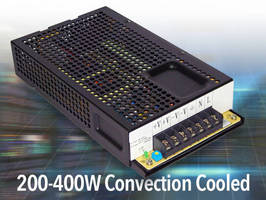 Fanless AC/DC Switching Power Supply delivers 200-400 W.