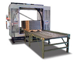 Automated Orbital Wrapping System secures loads to pallets.