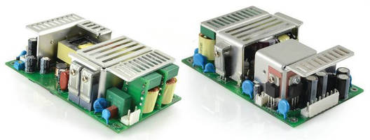 Compact Open Frame AC/DC Power Supplies deliver up to 280 W.