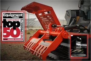 Worksaver Sweep Action Rock Grapple Part of Top 50 New Products by Equipment Today