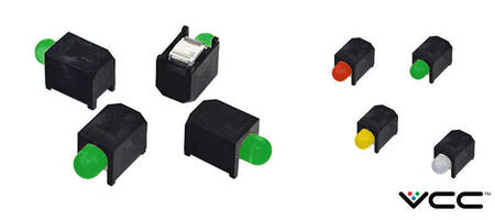 6300T series 3mm Right Angle SMD Circuit Board Indicator feature diffused round domes lens.