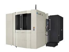 Horizontal Machining Center produces large ferrous parts.