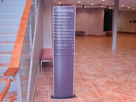 Nazareth College, Rochester NY has also been installed with Vista System Way Finding signage solutions