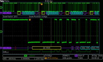 Mixed Domain Oscilloscopes support CAN FD.