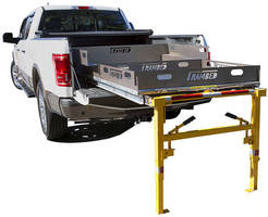 Commercial Truck Bed Extender features adjustable legs.