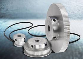 Synchronous Timing Belts, Pulleys suit small motor applications.
