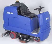 Rider Scrubbers provide single-pass cleaning.