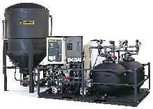 Automatic System recycles wash water at rates to 40 gpm.