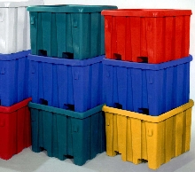Containers are color-coded to negate language barriers.