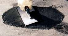 Permanent Concrete Patch repairs surfaces in under one hour.