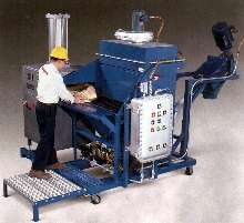 Bag Dump System is self-contained and dust-free.