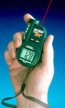 Infrared Thermometer measures temperatures up to 518°F.