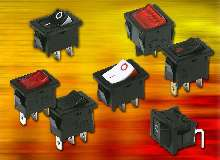 Rocker Switches come in various actuator colors and styles.
