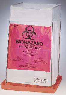 Bag Holder keep biohazard disposal bags open.