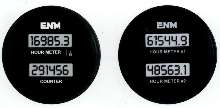 Dual Instrument combines hour meter and counter.