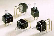 Illuminated Toggle Switches come in miniature in size.