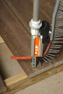 Deck Screws allow fast installation of composite decking.