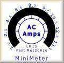 Meter displays current and volts in AC line applications.
