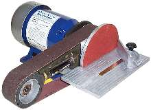 Bench Grinder performs sanding and polishing tasks.
