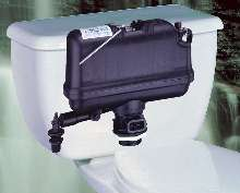 Toilet incorporates pressure-assist operating system.