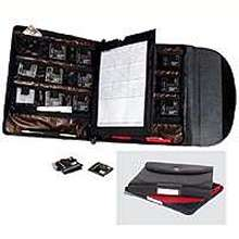Case organizes and protects flash media cards.