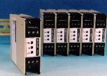 Sensor Amplifiers are DIN rail mounted.