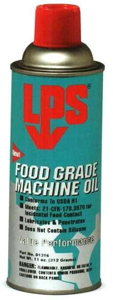 Machine Oil suits food processing equipment.