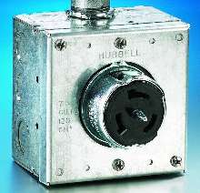 Cover Plate fits 50 A receptacles.