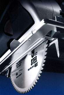 Circular Saw Blade speeds cutting of steel and aluminum.