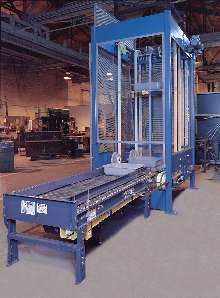 Package Handling System continuously conveys totes.