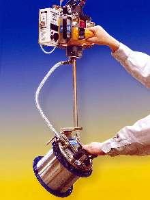 Vacuum Lifter handles up to 550 lb steel spools.