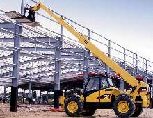 Telehandlers are offered with capacities to 9,000 lb.